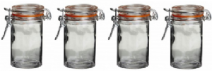 Glass Clip Top Spice Jars | Buy Online at The Asian Cookshop.